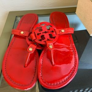 Tory Burch Red Patent Leather Sandals